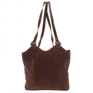 Dámská kožená kabelka batoh hnědá – Greenwood Ambision hnědá