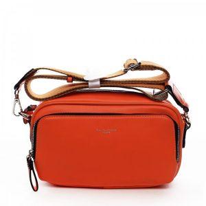Dámská crossbody kabelka David Jones Megan – oranžová