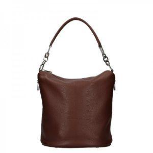 Dámská kožená kabelka Facebag Talma – tmavě hnědá