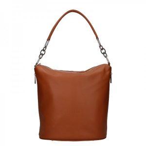 Dámská kožená kabelka Facebag Talma – koňak