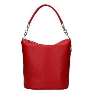 Dámská kožená kabelka Facebag Talma – červená