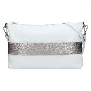 Dámská kožená kabelka Facebag Elesn – bílo-zlatá