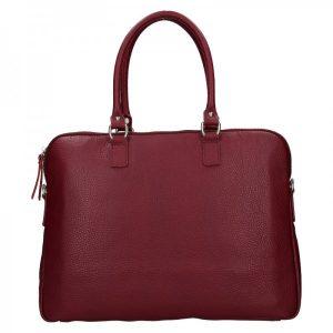 Dámská kožená taška na notebook Facebag Milanos – vínová