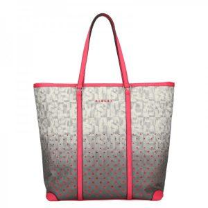 Dámská kabelka Sisley Brenda – šedo-růžová