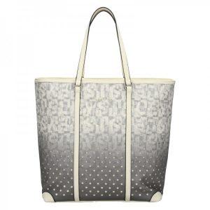 Dámská kabelka Sisley Brenda – šedo-bílá