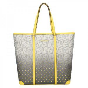 Dámská kabelka Sisley Brenda – šedo-žlutá