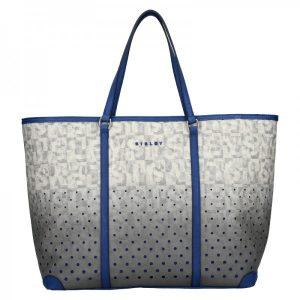 Dámská kabelka Sisley Radka – šedo-modrá