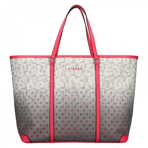 Dámská kabelka Sisley Radka – šedo-růžová