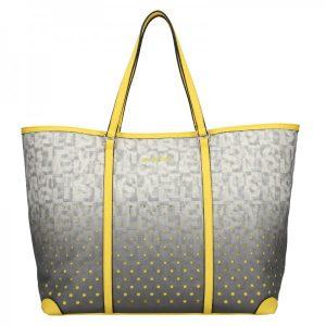 Dámská kabelka Sisley Radka – šedo-žlutá