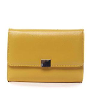 Dámské psaníčko žluté saffiano – Michelle Moon F900 žlutá