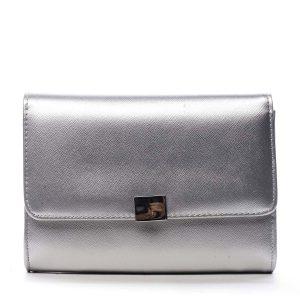 Dámské psaníčko stříbrné saffiano – Michelle Moon F900 stříbrná