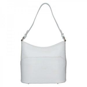 Dámská kožená kabelka Vera Pelle Jenny – bílá