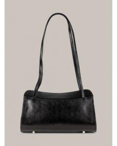 Kara černá kožená kabelka na rameno