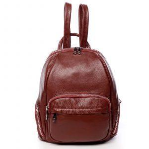 Dámský kožený batoh červený – ItalY Minetta červená