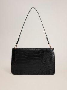 Čerená crossbody kabelka s krokodýlím vzorem Mango Mia
