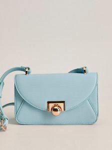 Světle modrá crossbody kabelka Mango Cayetana