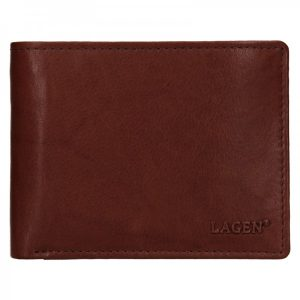 Pánská kožená peněženka Lagen Kall – hnědá