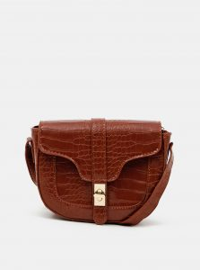 Hnědá crossbody kabelka s krokodýlím vzorem Haily´s Elisa