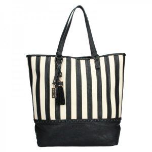 Dámská kabelka Sisley Wanda – černo-bílá
