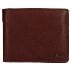 Pánská kožená peněženka Lagen Aleš – hnědá