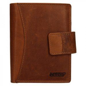 Pánská kožená peněženka Lagen Klent – hnědá