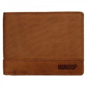 Pánská kožená peněženka Lagen Pavelo – hnědá