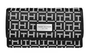 Tommy Hilfiger Dámská peněženka Th logo černá, bílá