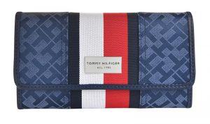 Tommy Hilfiger Dámská peněženka Th Stripe Logo Print modrá