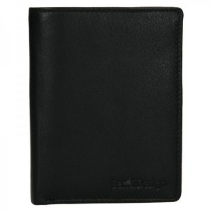Pánská kožená peněženka SendiDesign Paul – černá
