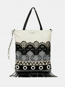 Černo-bílá kabelka Desigual
