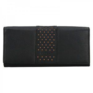 Dámská kožená peněženka Lagen Marela – černá – krémová