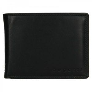 Pánská kožená peněženka Bugatti Manol – černá