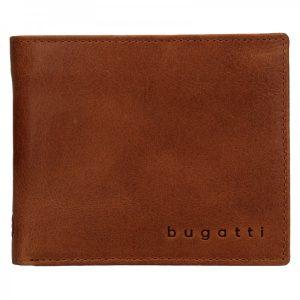 Pánská kožená peněženka Bugatti Michael – koňak