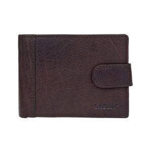 Pánská kožená peněženka Lagen Prean – tmavě hnědá