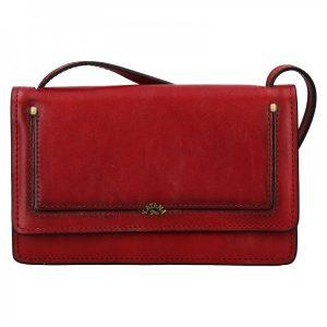 Kožená dámská crosbody kabelka Katana Nicca – tmavě červená