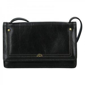 Kožená dámská crosbody kabelka Katana Nicca – černá