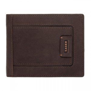 Pánská kožená peněženka Lagen Markus – hnědá