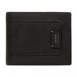 Pánská kožená peněženka Lagen Markus – černá