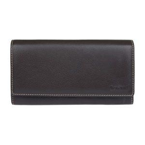 Dámská kožená peněženka Lagen Jiřina – hnědo-šedá