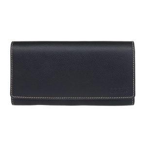 Dámská kožená peněženka Lagen Jiřina – černo-bílá