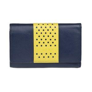 Dámská kožená peněženka Lagen Lada – modro – žlutá-