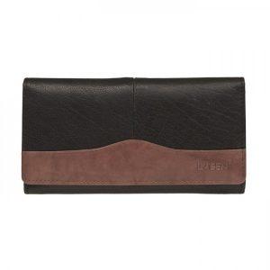Dámská kožená peněženka Lagen Veronica – černo-hnědá