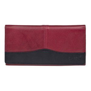 Dámská kožená peněženka Lagen Veronica – červeno-černá
