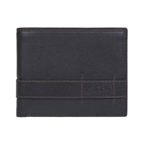 Pánská kožená peněženka Lagen Alcan – tmavě hnědá