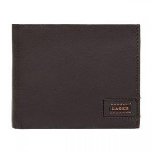 Pánská kožená peněženka Lagen Amadus – hnědo-oranžová