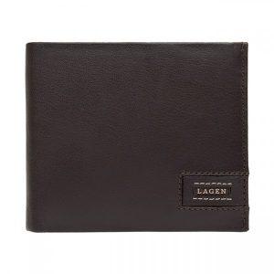 Pánská kožená peněženka Lagen Amadus – černo-béžová