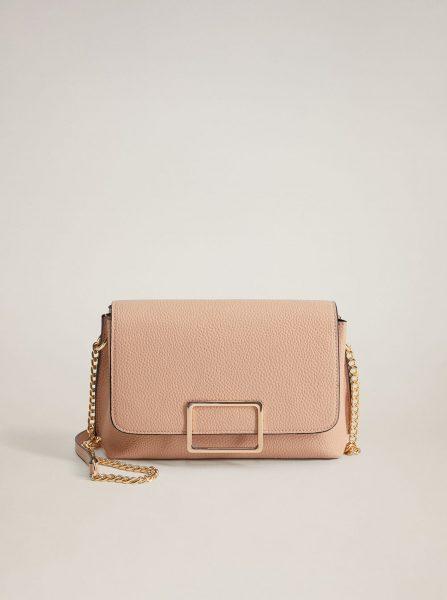Růžová crossbody kabelka Mango Ribera