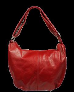 Červená kožená kabelka přes rameno Gondola Rossa Scura