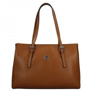 Dámská kožená kabelka Marina Galanti Chiara – hnědá