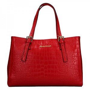 Dámská kožená kabelka Marina Galanti Federici – červená
